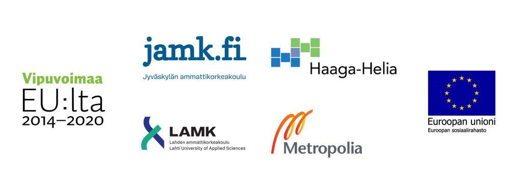 Metropolia, JAMK, LAMK, Haaga-Helia, Vipuvoimaa EU:lta 2014–2020, Euroopan unioni, Euroopan sosiaalirahasto